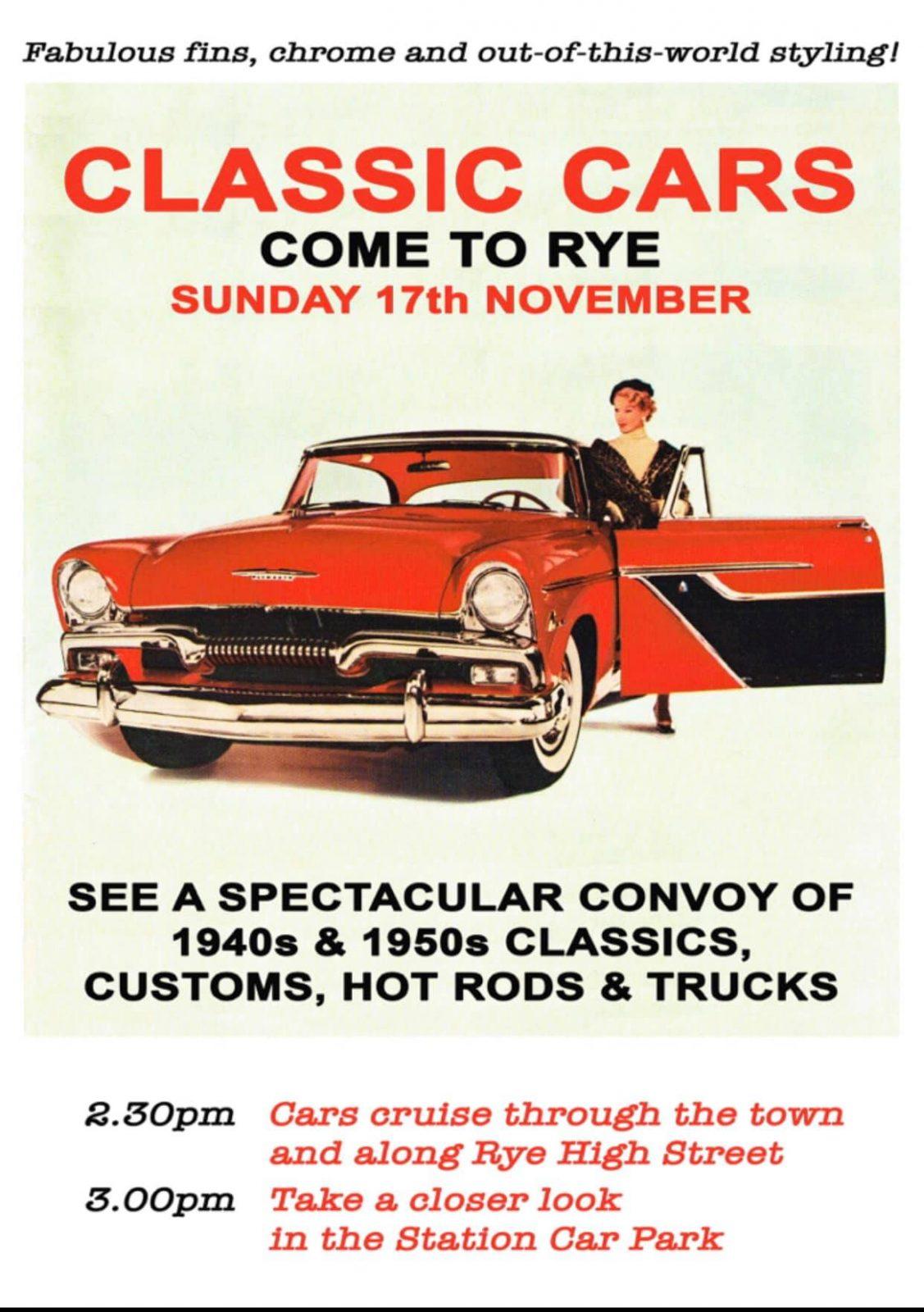 rye classic car rally The George in Rye