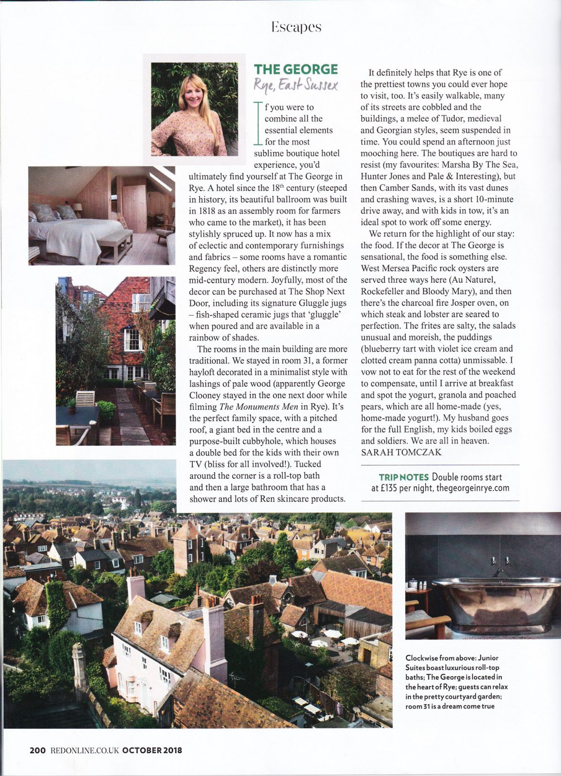 Red magazine The George in Rye